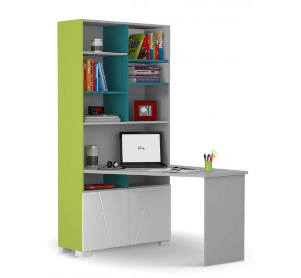 Детский письменный стол-стеллаж 438/439 правый/левый X One/X Green