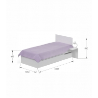 Кровать YO 120x200 X White/X Oak