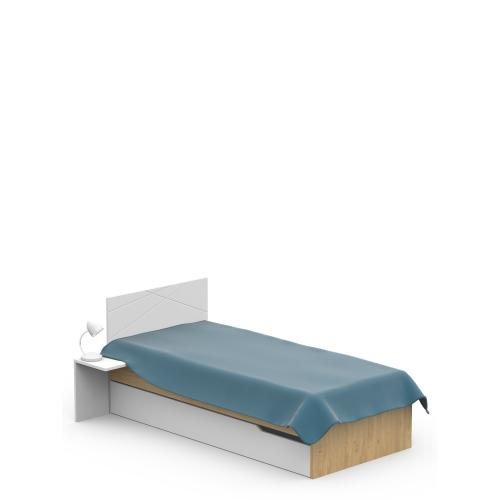 Кровать YO 90х200 X White/X Oak