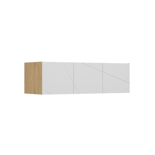 Антресоль 442 к шкафу YO 150 X White/X Oak