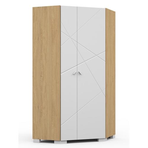 Шкаф угловой YO 282 X White/X Oak