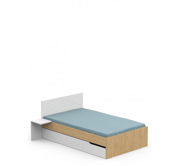 Детская кровать YO 120x190 X White/X Oak