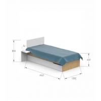 Кровать YO 120x190 X White/X Oak