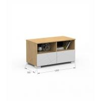 Детский письменный стол c TV тумбой 100 Flex 125 Х Oak