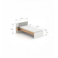Кровать SN-90 White Oak Meblik