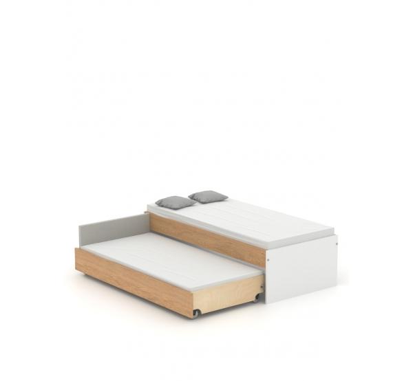 Кровать низкая Double 90-N Oak Meblik