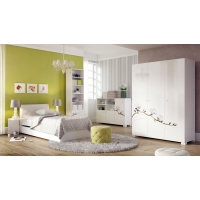 Ночной столик к кровати с мягким изголовьем Л = П Y90/120 White 289