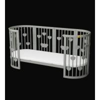 Кроватка для новорожденных овальная Smart Bed Oval+декор