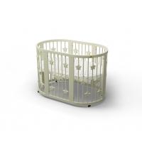 Кроватка для новорожденных круглая/овальная Smart Bed Round+декор