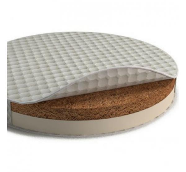Матрас на кроватку-трансформер круглый/овальный кокос+латекс