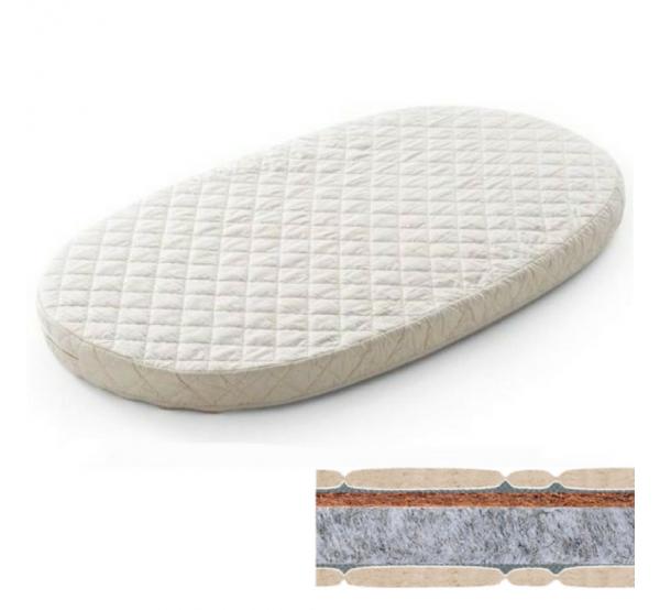 Матрас на кроватку-трансформер овальный кокос+флексовойлок