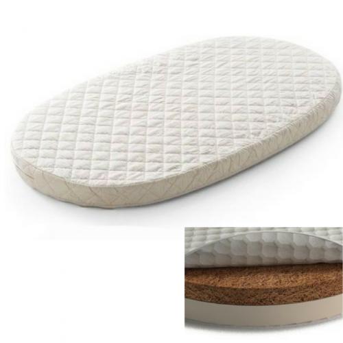 Матрас на кроватку-трансформер овальный кокос+латекс