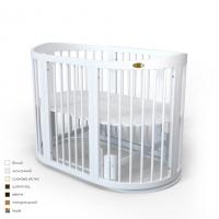 Кроватка для новорожденных круглая/овальная Smart Bed Round Moon