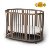 Кроватка для новорожденных овальная Smart Bed Oval