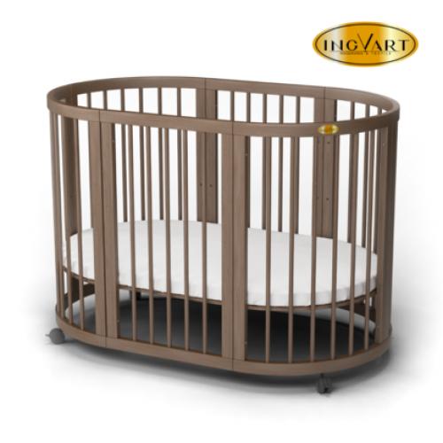Кроватка для новорожденных круглая/овальная Smart Bed Maxi 80