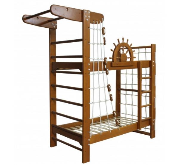 """Детская двухъярусная кровать-спортивный уголок """"Пират"""" Тон"""