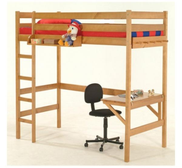 Детская кровать-чердак с рабочей зоной Соло-1