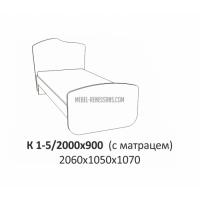 Кровать без тканевых накладок Планета Луна