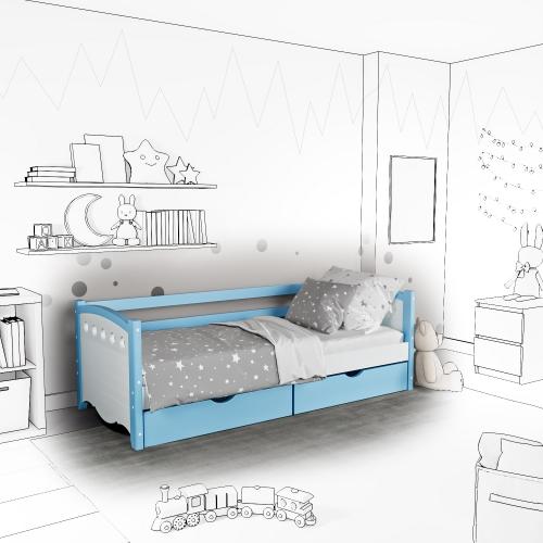 Детская кровать-софа Anry с подъемным механизмом