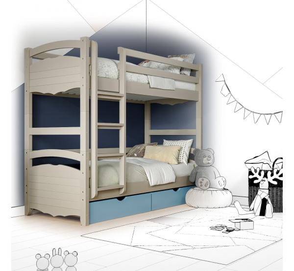 Кровать двухъярусная деревянная Arina