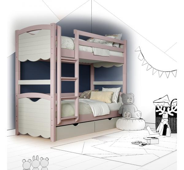Кровать двухъярусная деревянная Bella