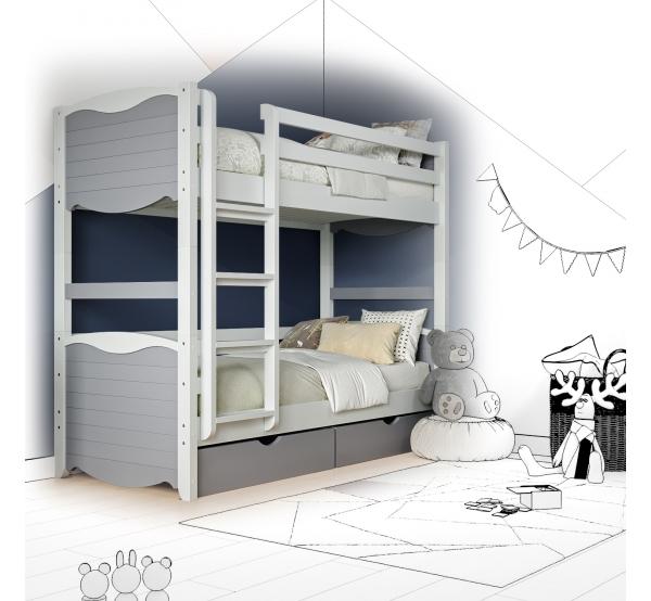 Кровать двухъярусная деревянная Elly