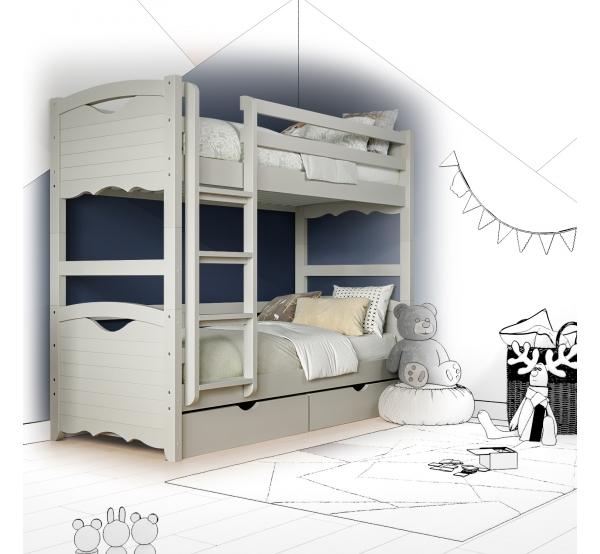 Кровать двухъярусная деревянная Jenny