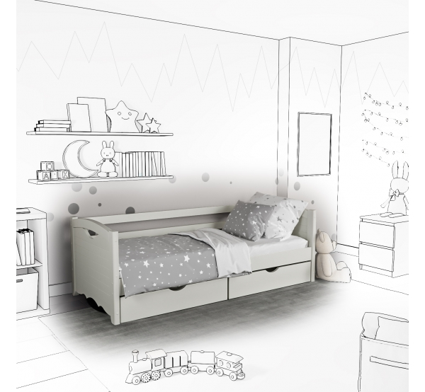Детская кровать-софа Jenny с подъемным механизмом
