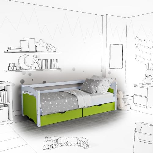 Детская кровать-софа Lika с подъемным механизмом