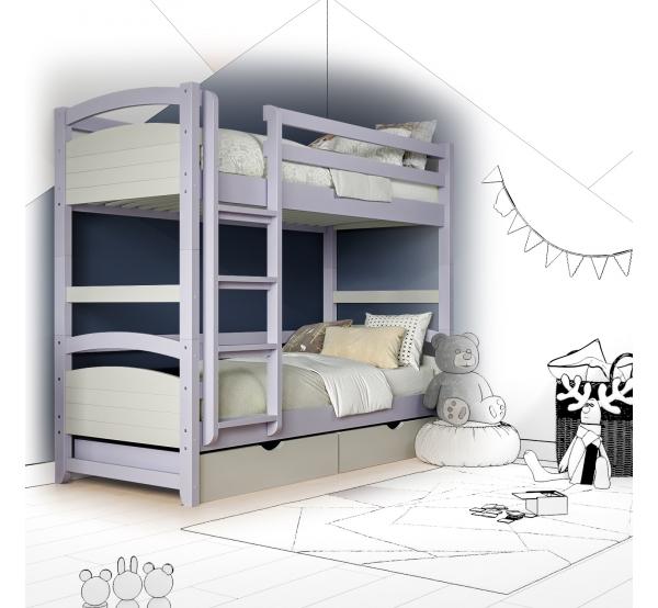Кровать двухъярусная деревянная Mila