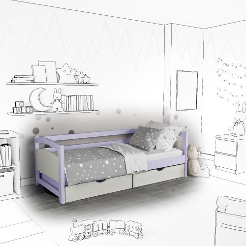 Детская кровать-софа Mila с подъемным механизмом