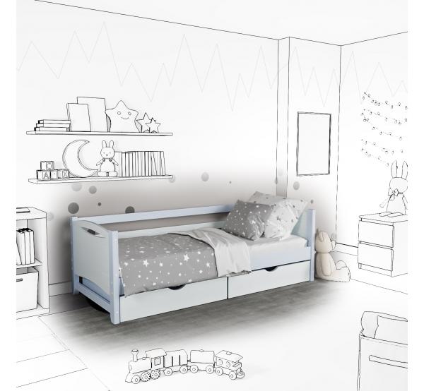 Детская кровать-софа Mona с подъемным механизмом