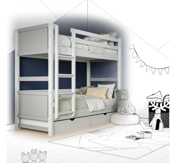 Кровать двухъярусная деревянная Monty