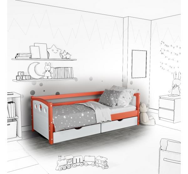 Детская кровать-софа Oki с подъемным механизмом