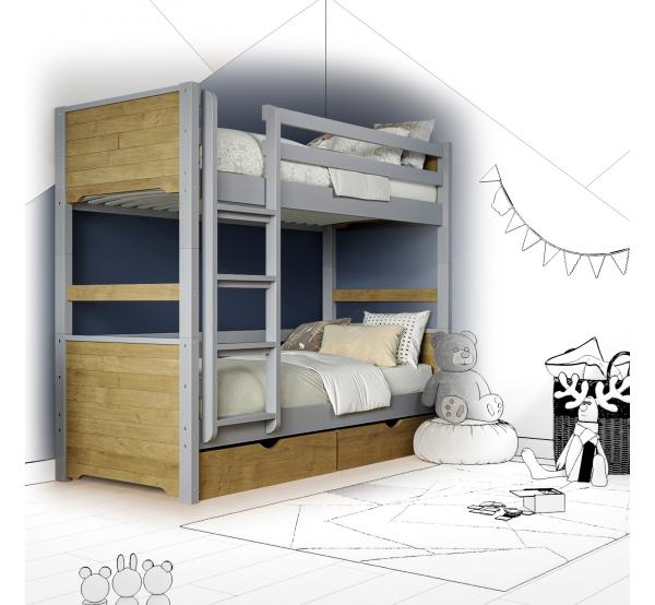 Кровать двухъярусная деревянная Ronni