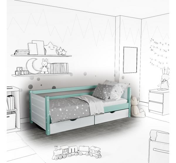 Детская кровать-софа Tokka с ящиками