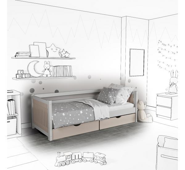 Детская кровать-софа Totty с подъемным механизмом