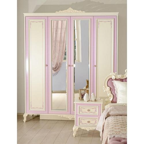 Шкаф четырехстворчатый с зеркалом Маркиза