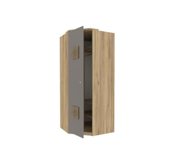 Шкаф угловой 45° с декоративной накладкой Фиджи