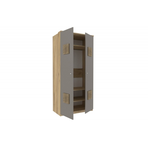 Шкаф двухстворчатый с декоративными накладками Фиджи