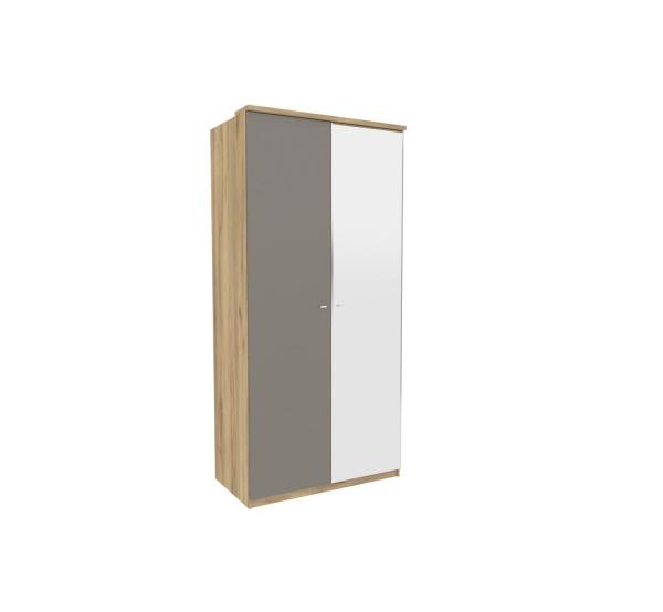 Шкаф двухстворчатый (антрацит)с 1 зеркалом Фиджи