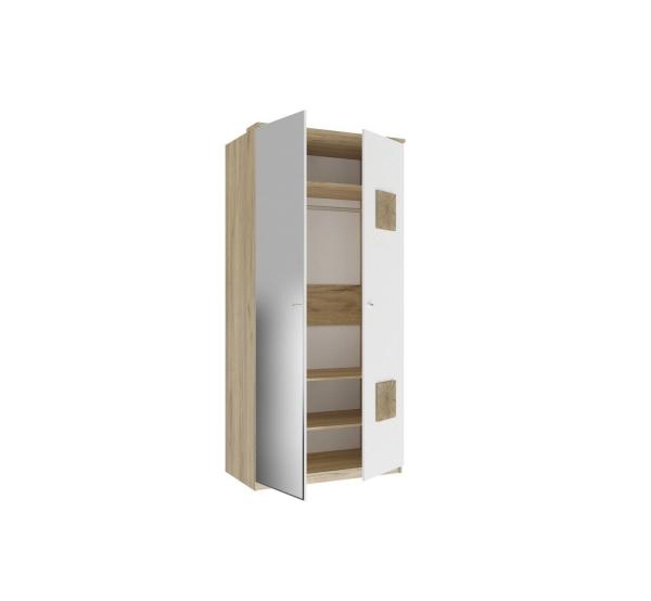 Шкаф двухстворчатый с 1 зеркалом Фиджи