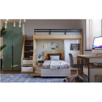 Шкаф комбинированный под кровать-чердак Урбан 528.200