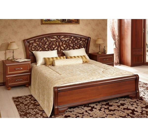 Спальня Александрия (Орех) - (Кровать+ 2 тумбы)