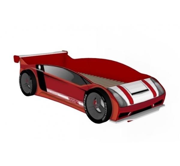 Кровать-машина 900 с колесами Формула