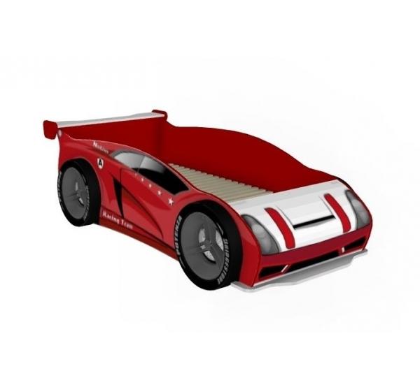 Детская кровать-машина 800 с колесами Формула