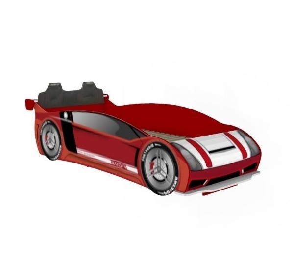 Кровать-машина 900 со спинкой Формула