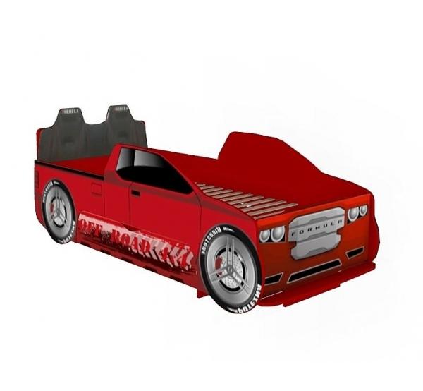 Кровать-машина 900 Пикап со спинкой Формула