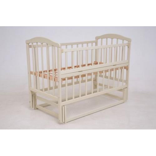 Детская кроватка «ЧАЙКА» ваниль с регулировкой боковины