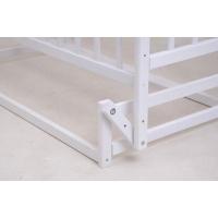 Детская кроватка «ЧАЙКА» белая с регулировкой боковины